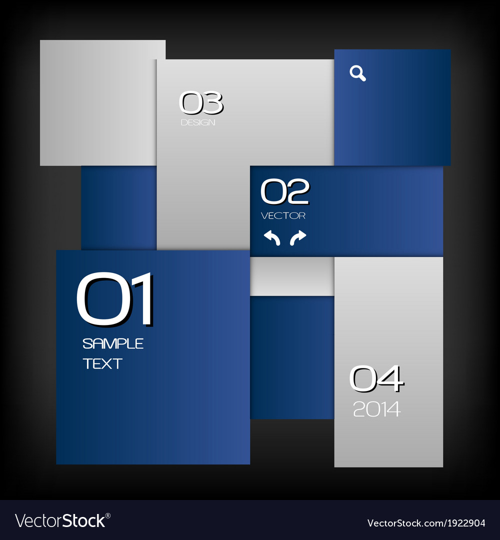 Business squares template blue dark with text vector | Price: 1 Credit (USD $1)