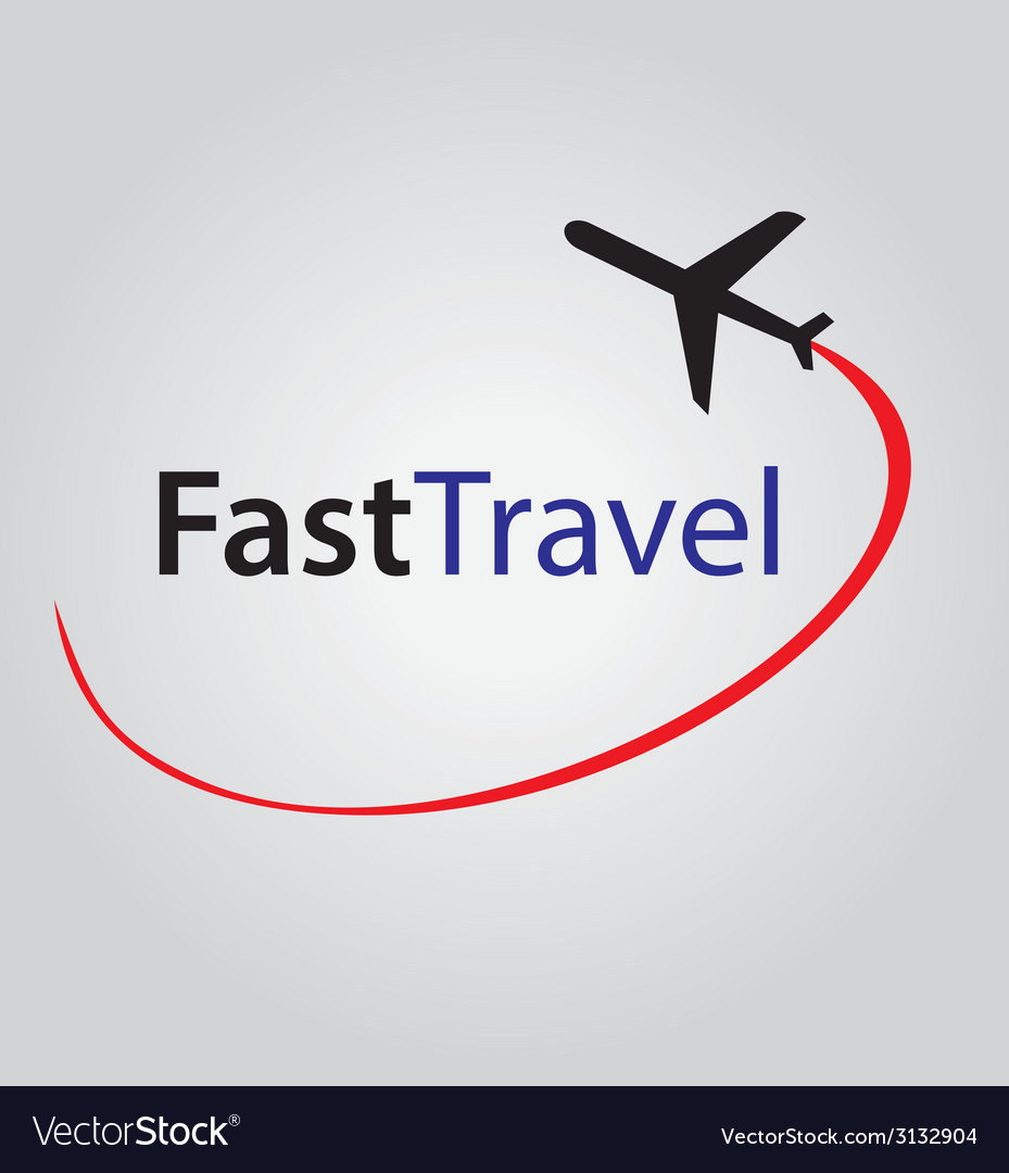 Fast air travel logo vector | Price: 1 Credit (USD $1)