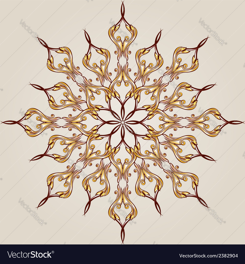 Flower pattern henna vector | Price: 1 Credit (USD $1)