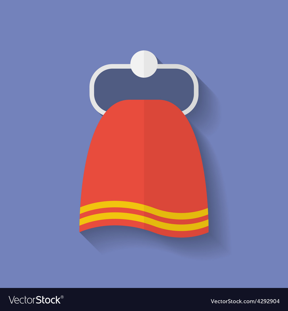 Icon of towel flat style vector | Price: 1 Credit (USD $1)