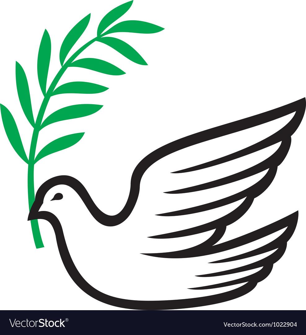 Peace dove vector | Price: 1 Credit (USD $1)