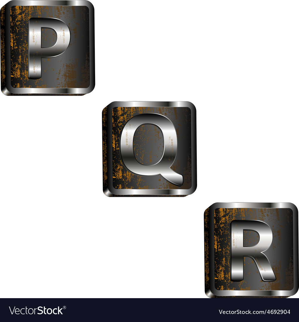 Pqr iron letters vector | Price: 1 Credit (USD $1)