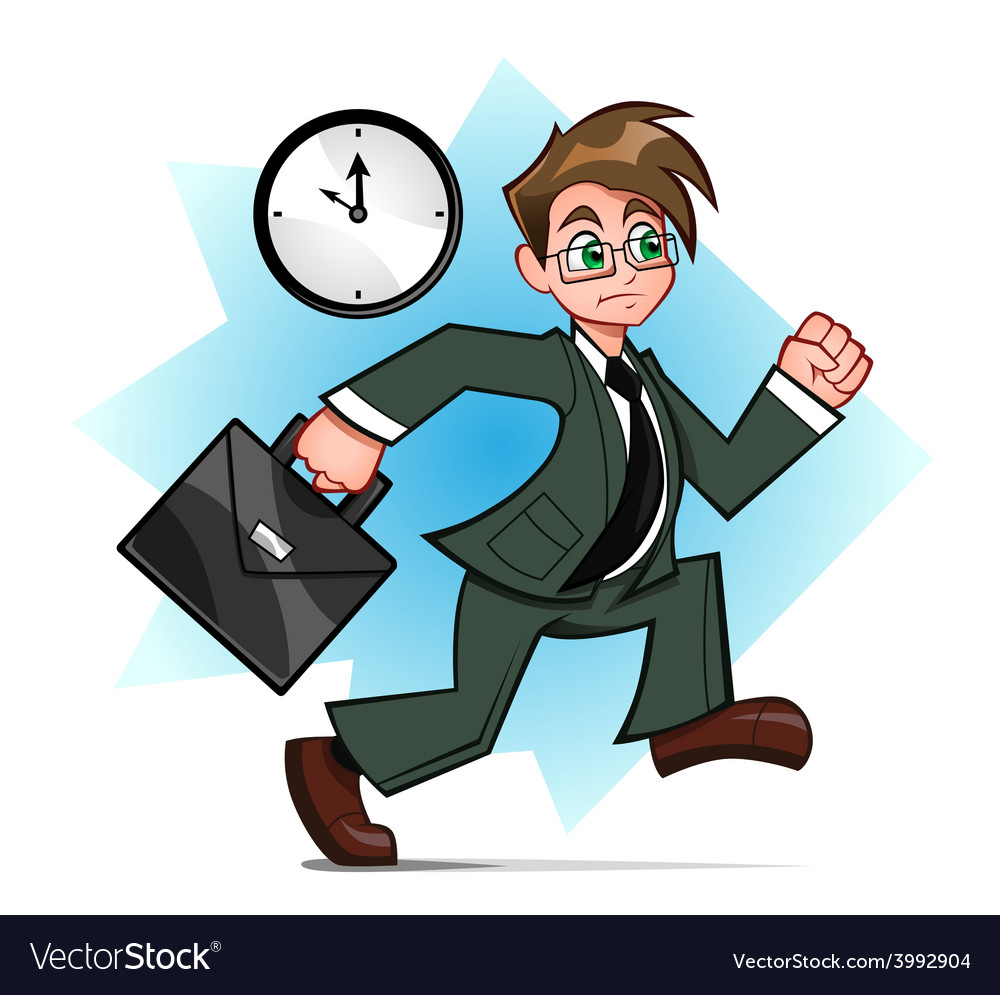 Running businessman vector | Price: 3 Credit (USD $3)