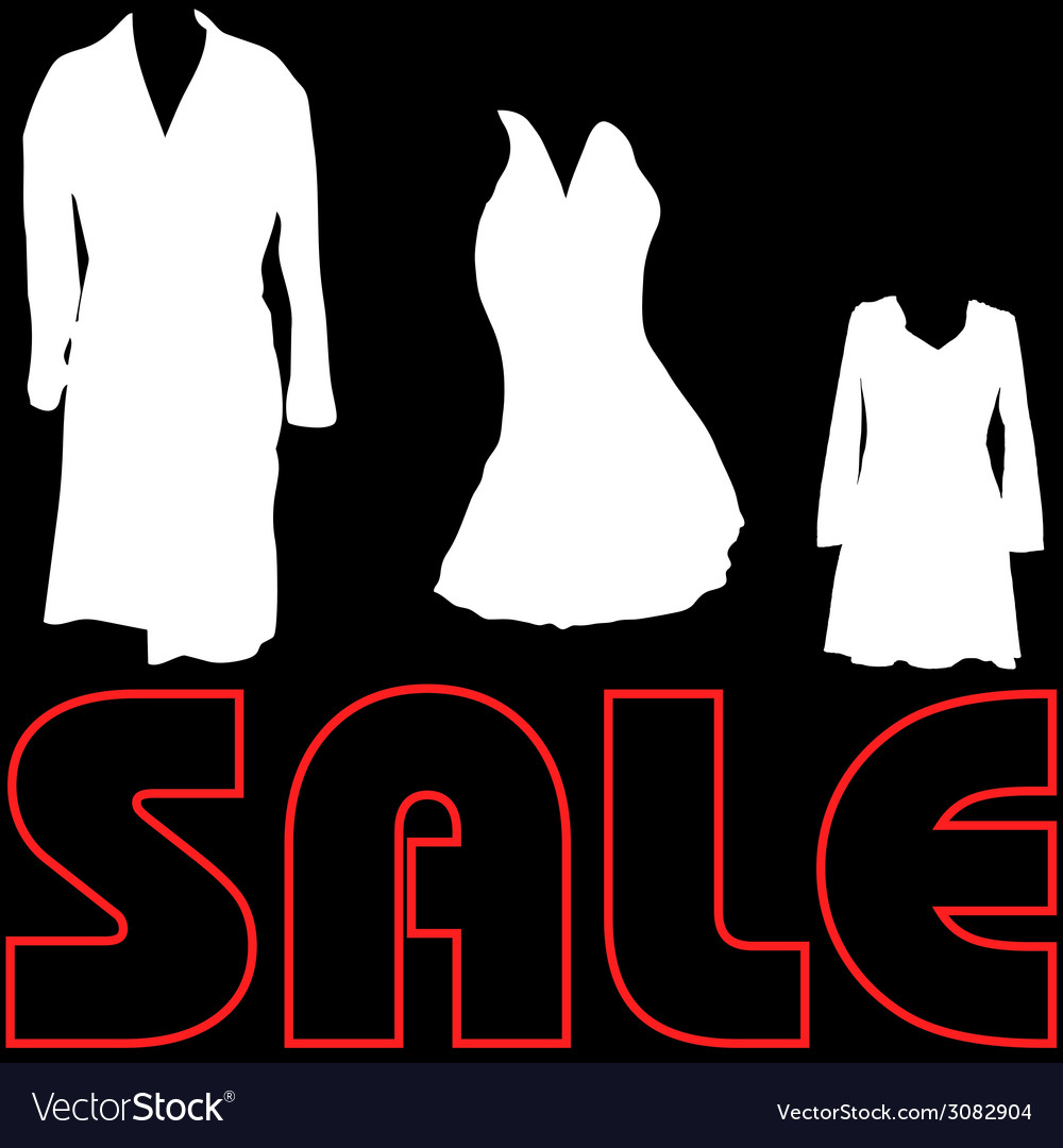 Sale with clothes sign vector | Price: 1 Credit (USD $1)