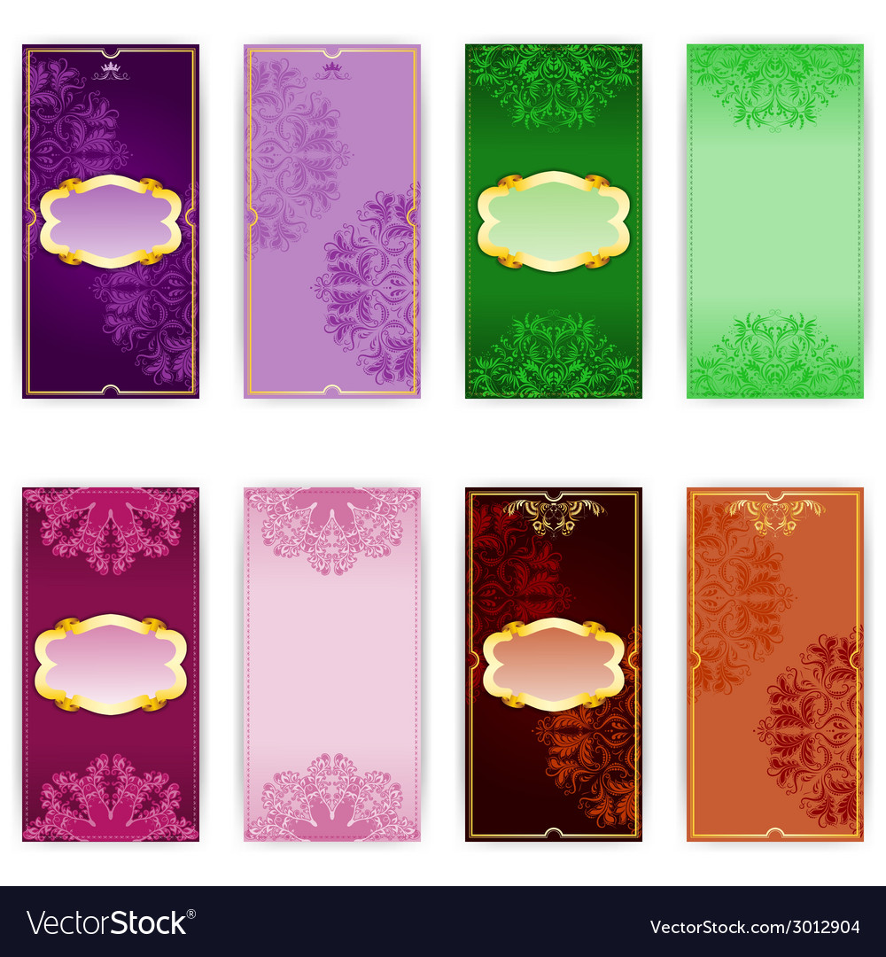 Set of invitation card vector | Price: 1 Credit (USD $1)