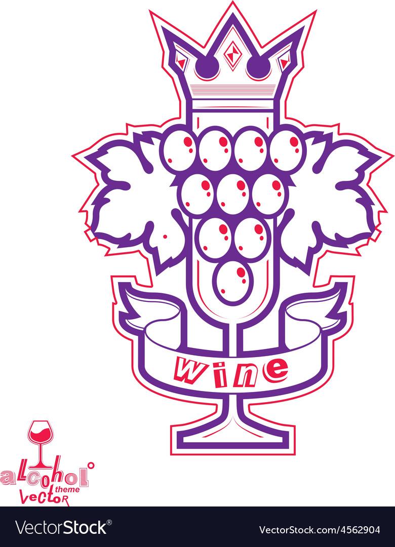 Sparkling wine stylized empty wineglass wit vector   Price: 1 Credit (USD $1)