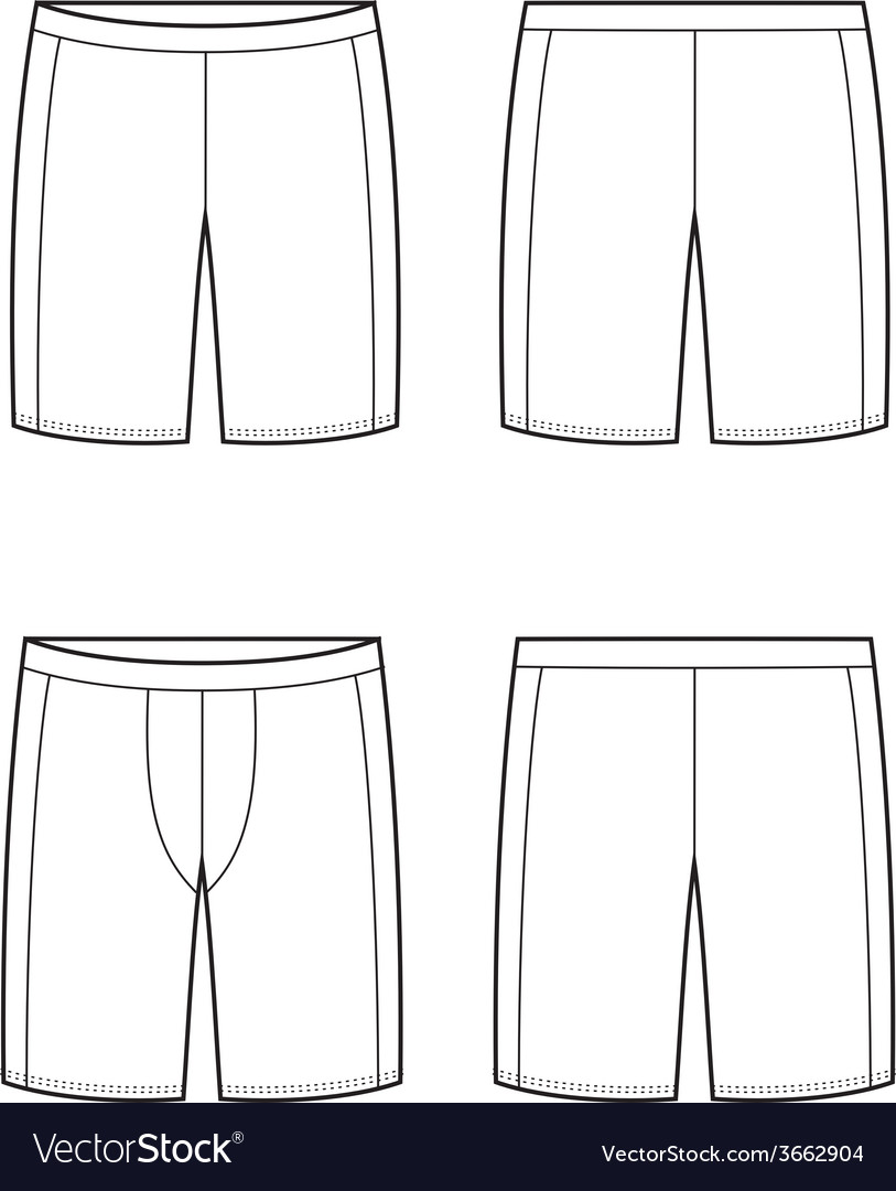 Sport shorts vector | Price: 1 Credit (USD $1)