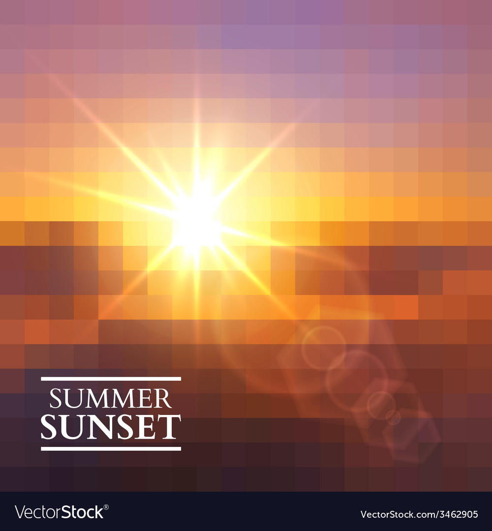 Abstract summer sunset background vector | Price: 1 Credit (USD $1)