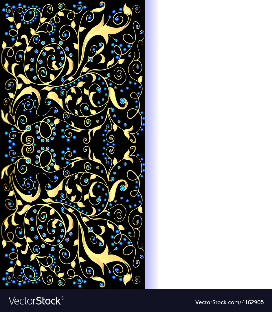 Background gold ornaments vector | Price: 1 Credit (USD $1)