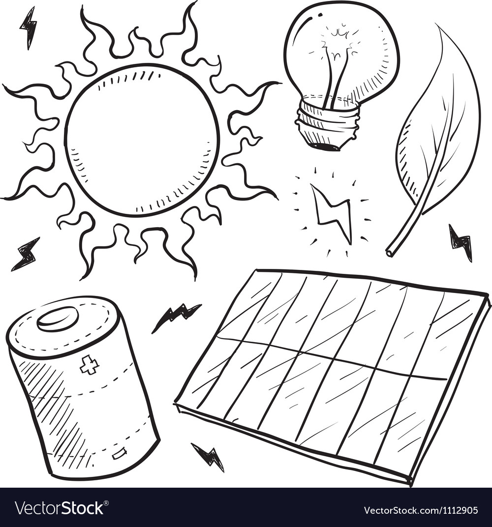 Doodle energy solar vector | Price: 1 Credit (USD $1)