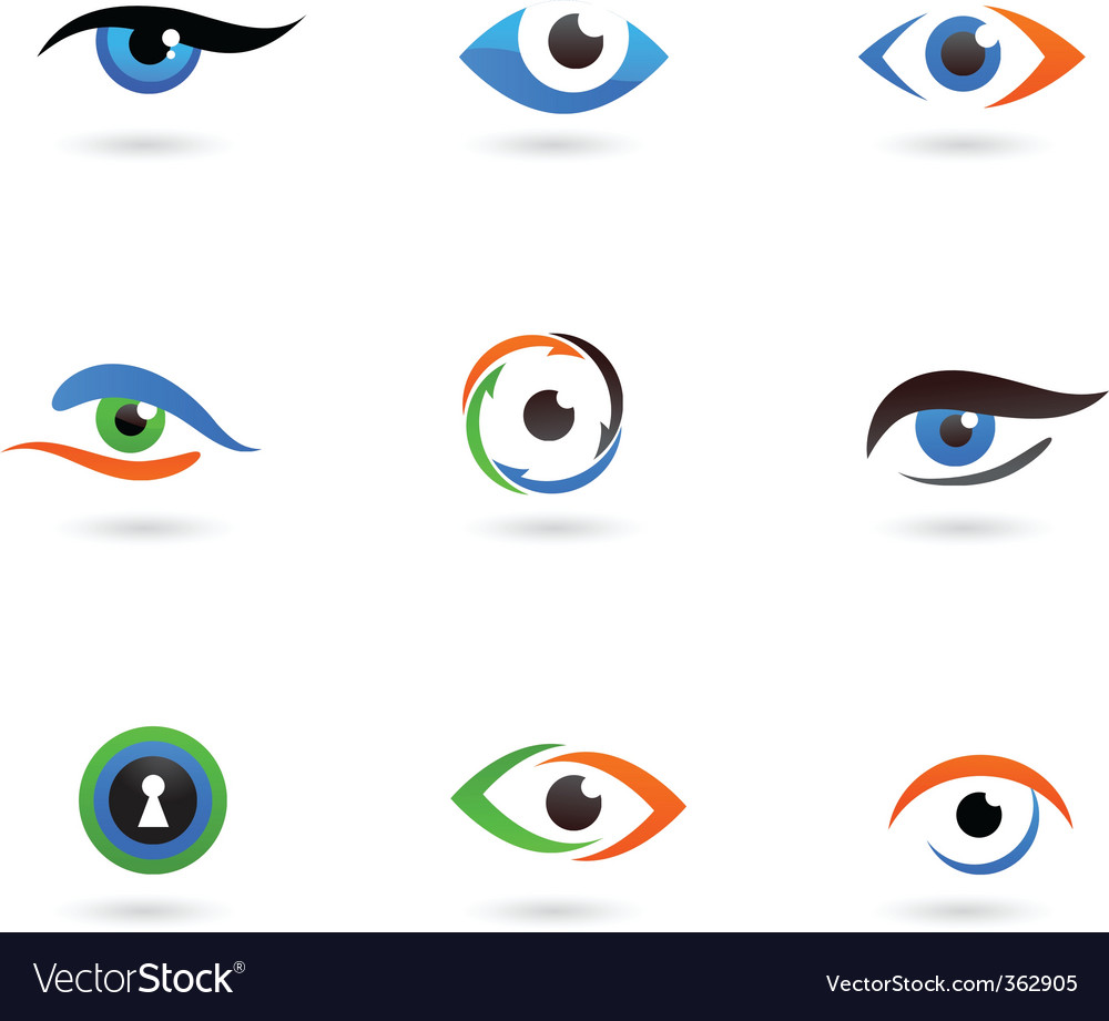 Eye logos vector | Price: 1 Credit (USD $1)
