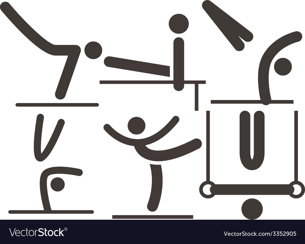 Gymnastics artistic icon vector | Price: 1 Credit (USD $1)