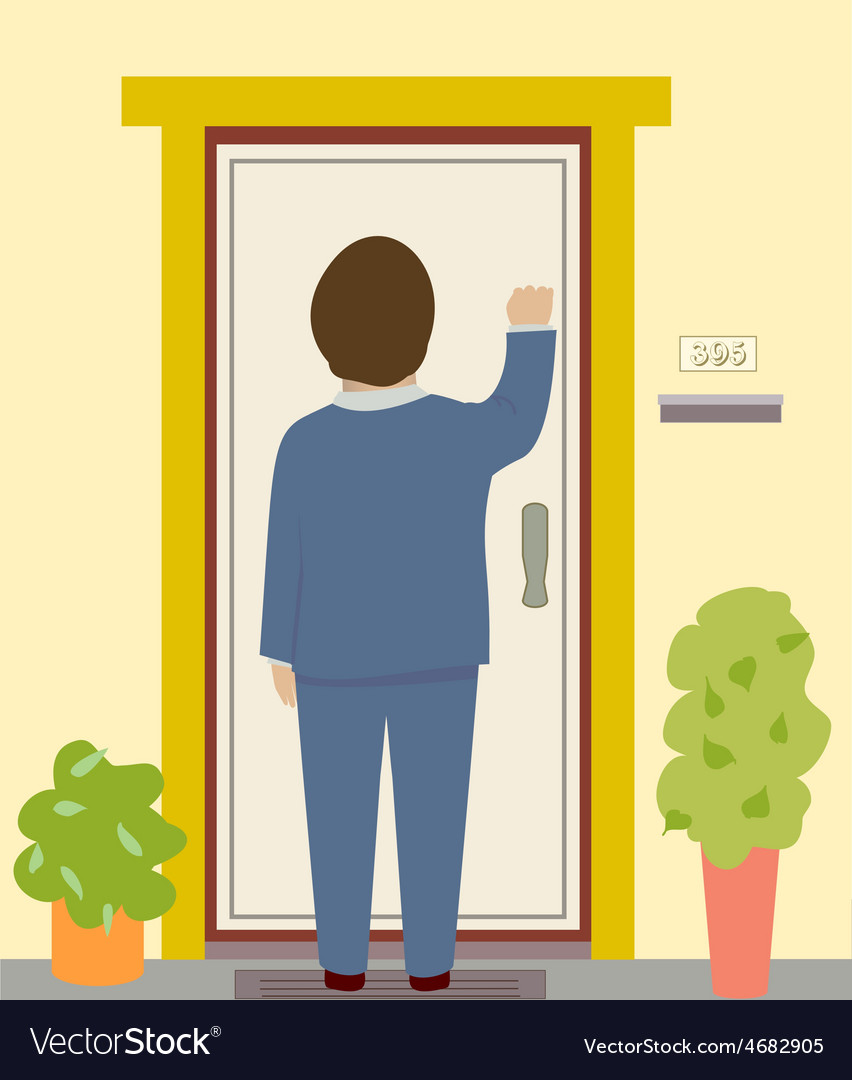 Knocking on the door vector | Price: 1 Credit (USD $1)