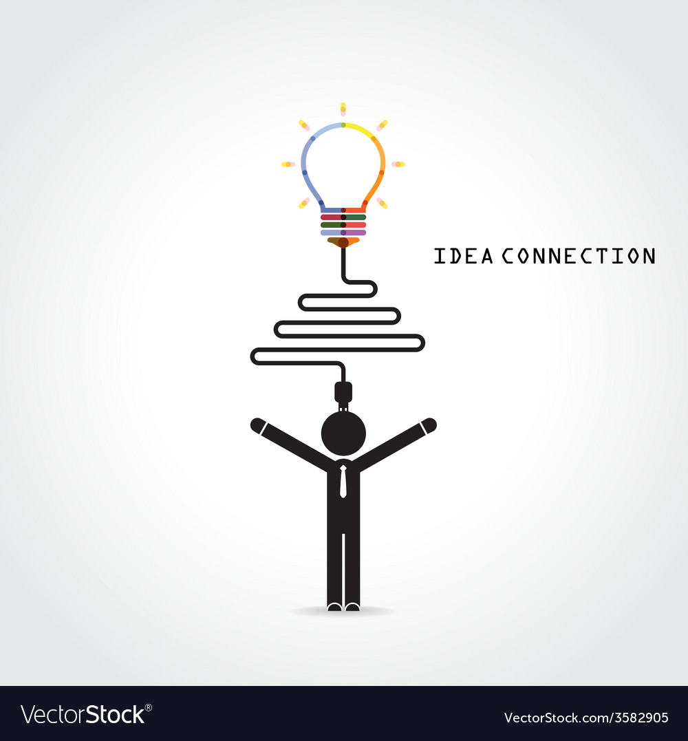 Light bulb symbol and knowledge connection vector | Price: 1 Credit (USD $1)
