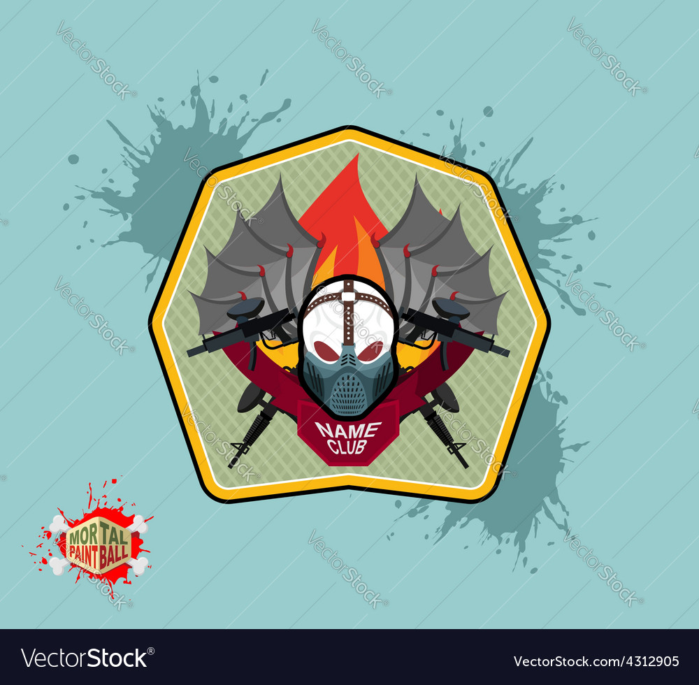 Paintball team logo and emblem scary skull in vector | Price: 1 Credit (USD $1)
