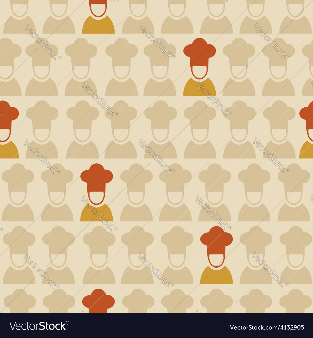 Restaurant chef seamless pattern background vector | Price: 1 Credit (USD $1)