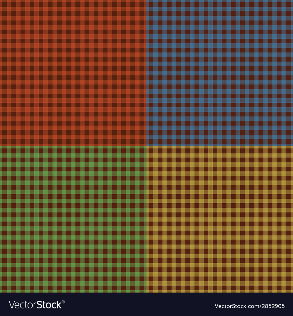 Set of checkered textures vector | Price: 1 Credit (USD $1)