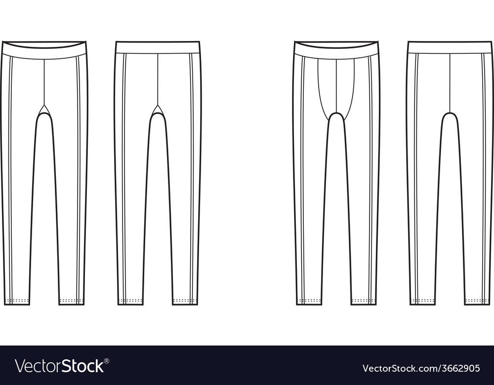 Sport leggings vector | Price: 1 Credit (USD $1)