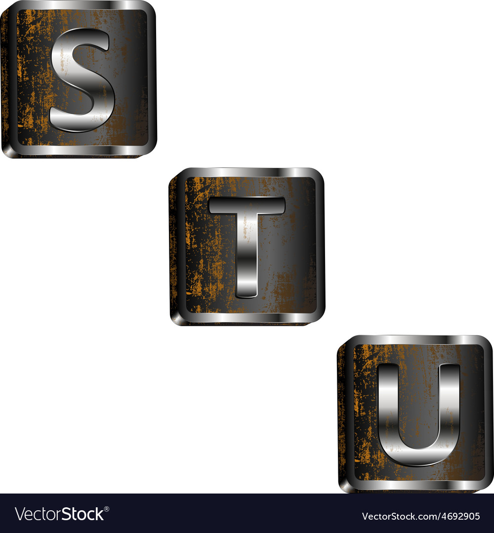 Stu iron letters vector | Price: 1 Credit (USD $1)