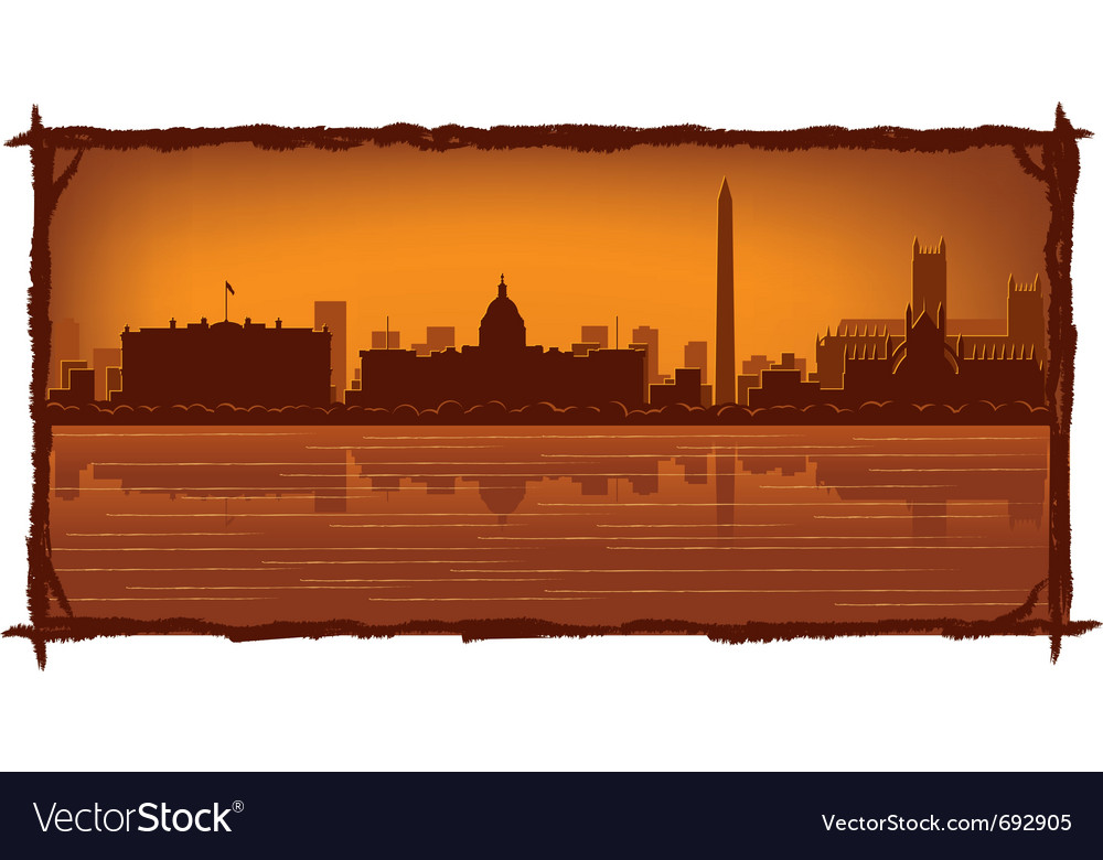 Washington skyline vector | Price: 1 Credit (USD $1)