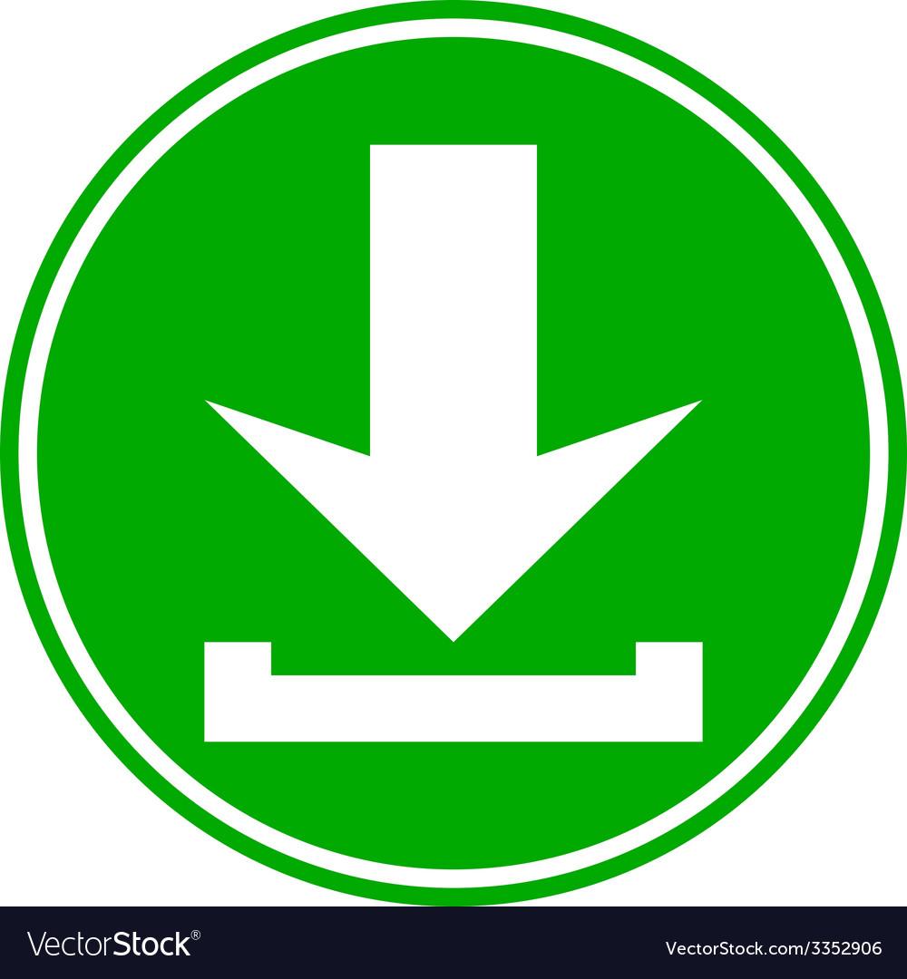 Arrow download button vector | Price: 1 Credit (USD $1)
