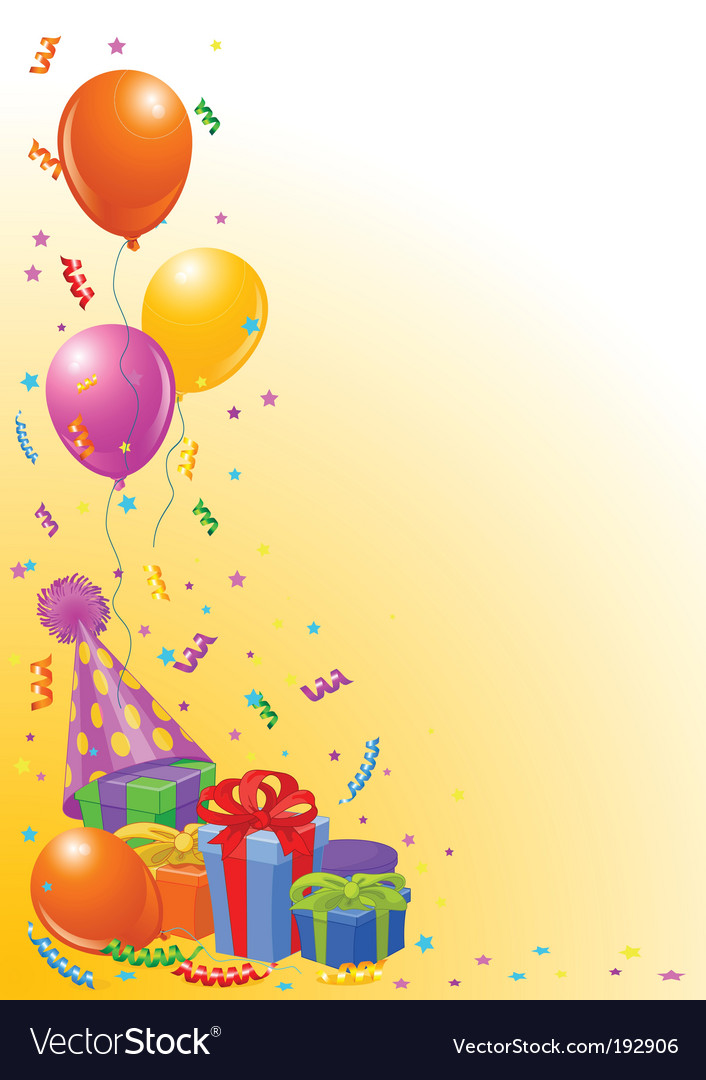 Birthday party background vector | Price: 1 Credit (USD $1)