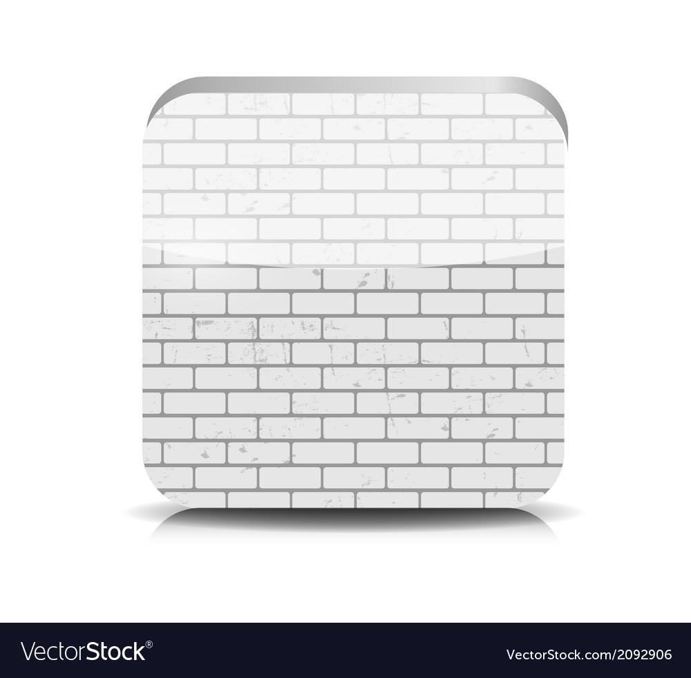 Brick application button vector | Price: 1 Credit (USD $1)