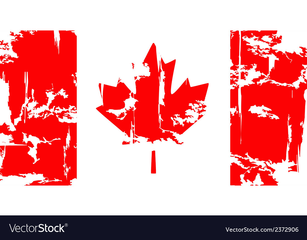 Canadian grunge flag vector | Price: 1 Credit (USD $1)