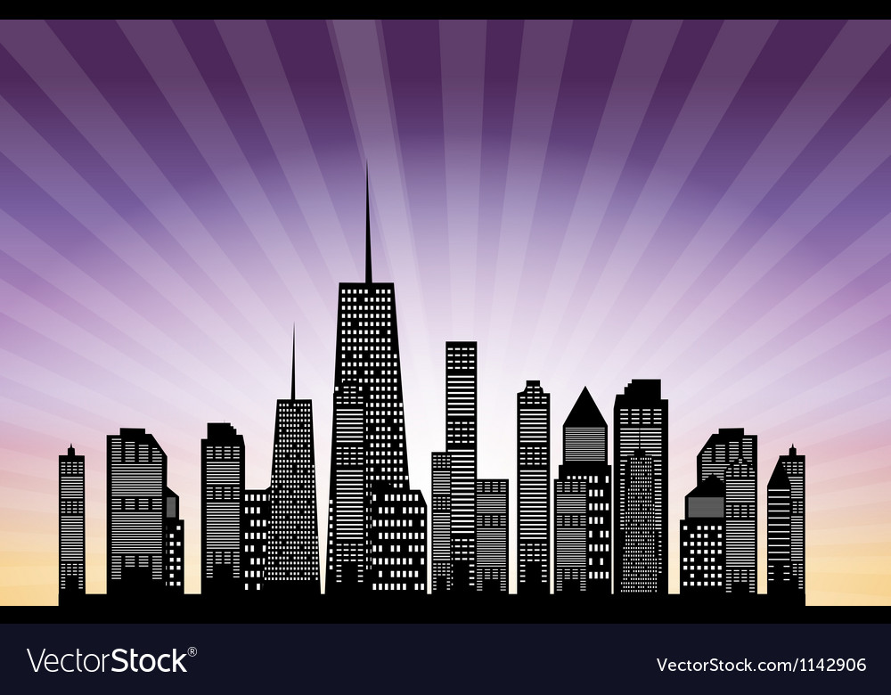 Cities silhouette eps 10 vector | Price: 1 Credit (USD $1)