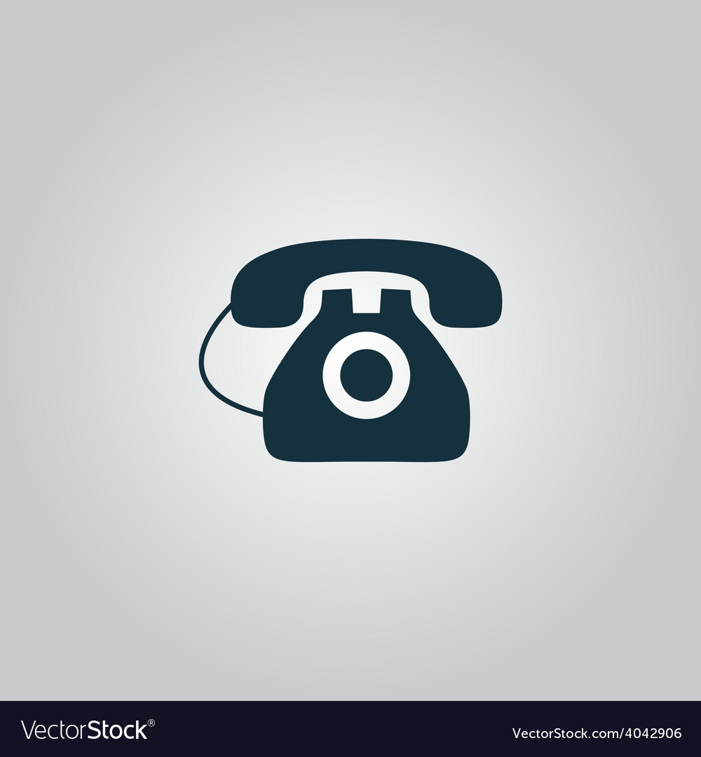 Office telephone - icon isolated vector   Price: 1 Credit (USD $1)