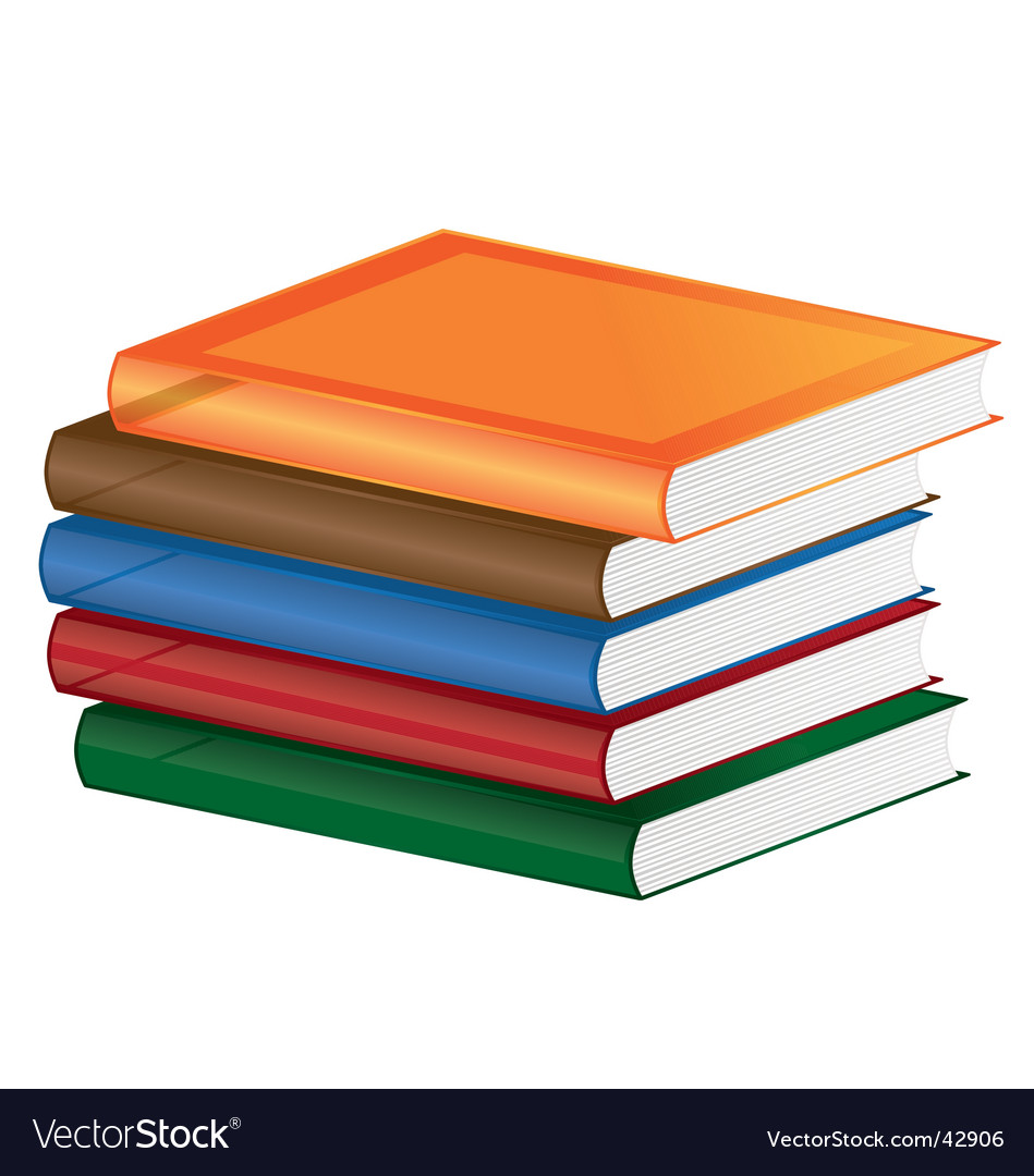 School books vector | Price: 1 Credit (USD $1)