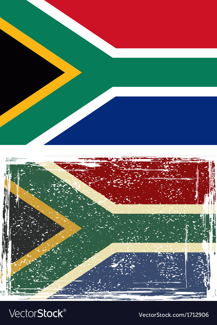 South african republic grunge flag vector | Price: 1 Credit (USD $1)