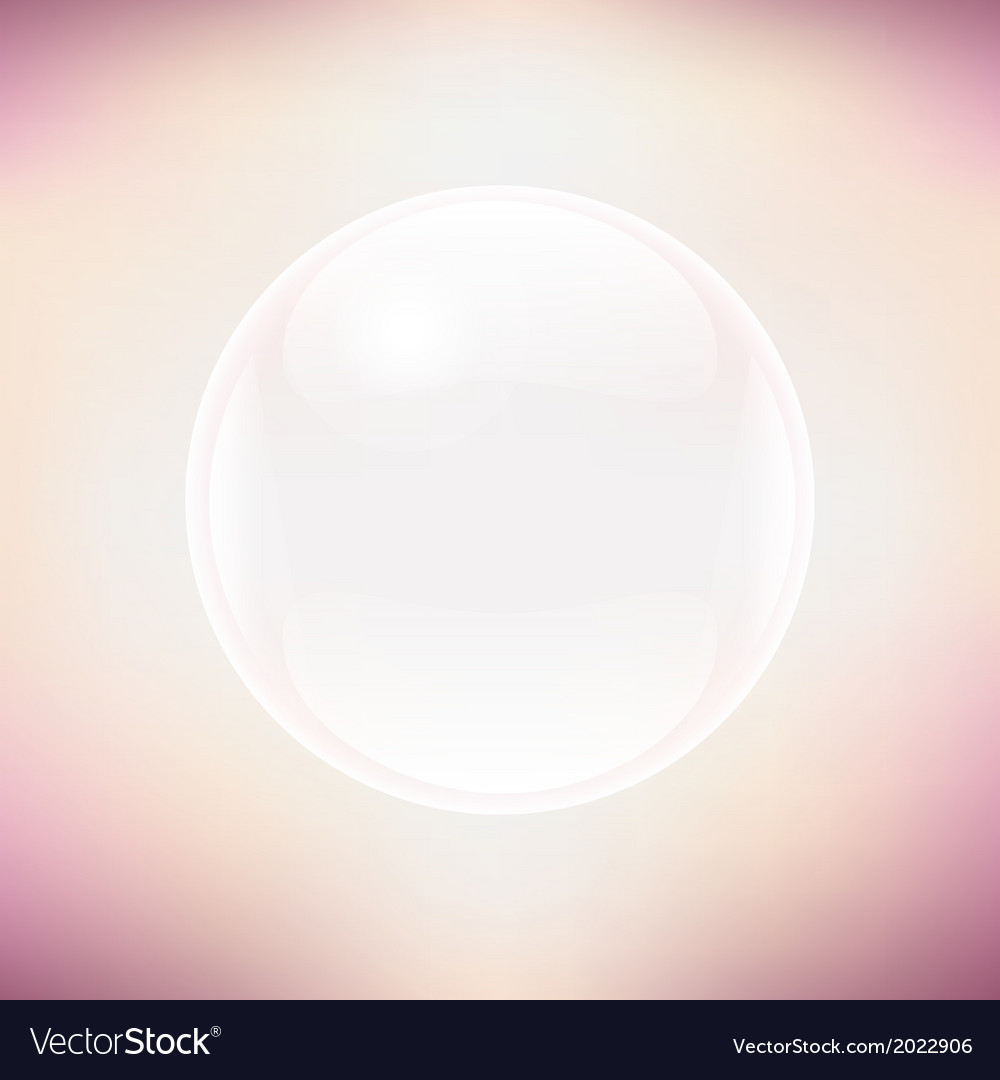 Transparent sphere and pastel background vector | Price: 1 Credit (USD $1)