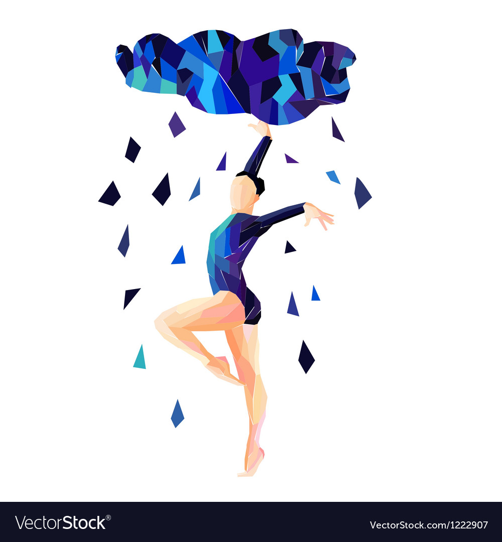 Abstract image of a dancing girl vector | Price: 1 Credit (USD $1)