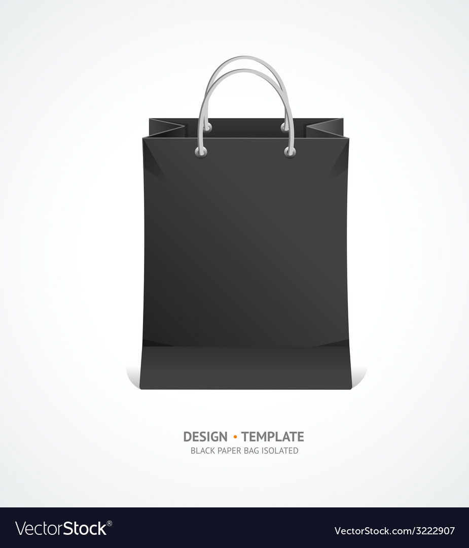 Black paper bag vector | Price: 1 Credit (USD $1)