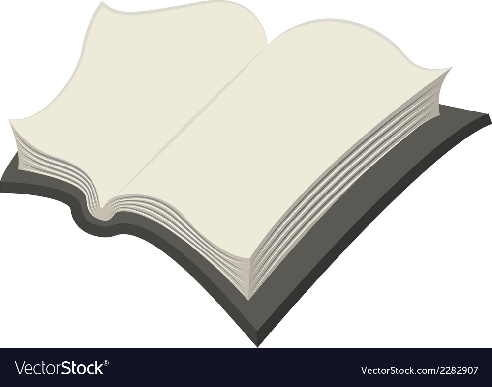 Blank open book vector | Price: 1 Credit (USD $1)
