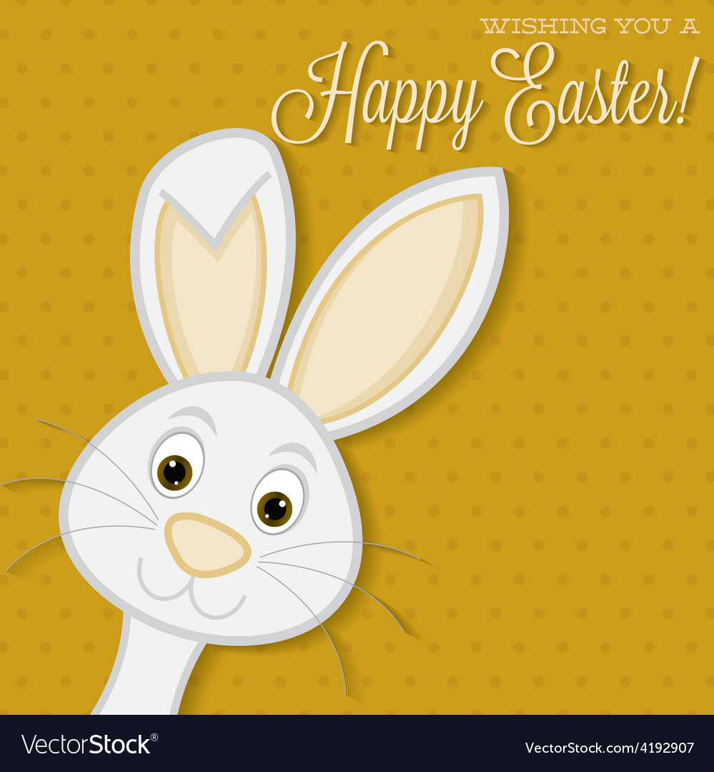 Bright easter bunny card in format vector | Price: 1 Credit (USD $1)