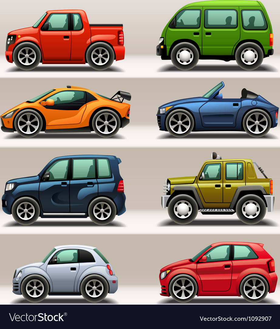 Car icon set vector | Price: 3 Credit (USD $3)