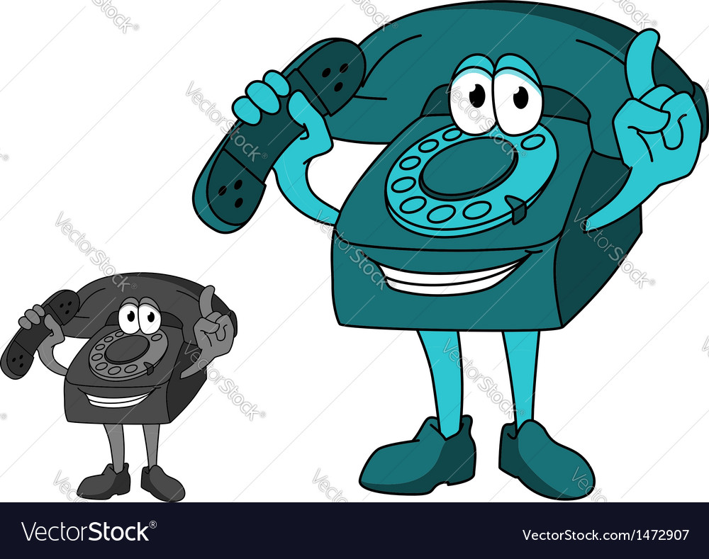 Cartoon telephone vector | Price: 1 Credit (USD $1)