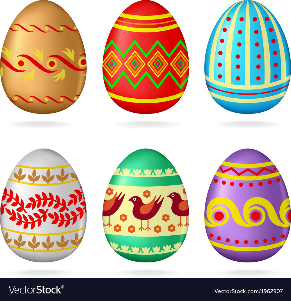 Egg collection ornamen vector | Price: 1 Credit (USD $1)