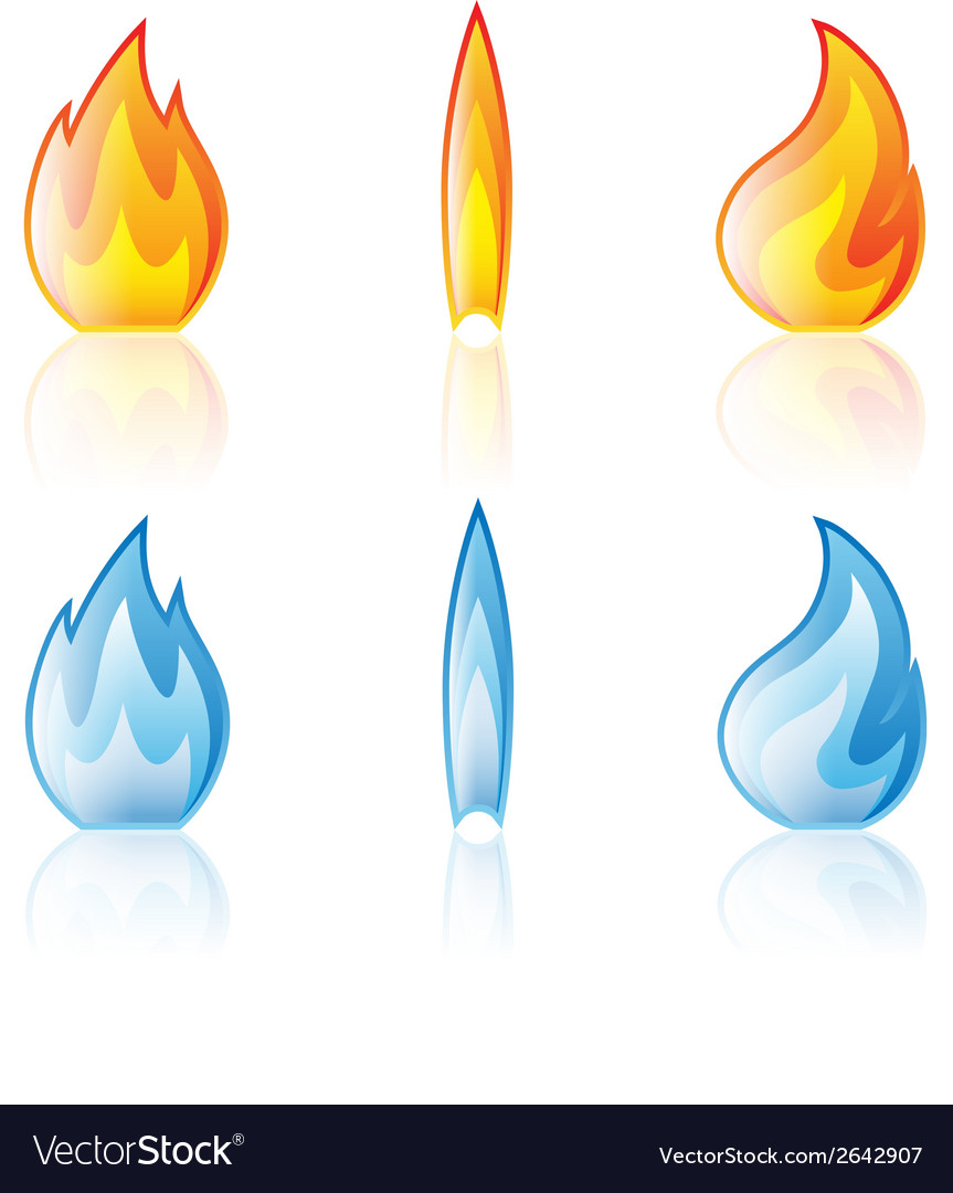 Flame red blue vector | Price: 1 Credit (USD $1)