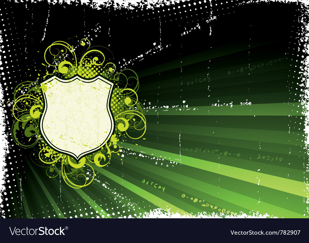 Green grunge background vector | Price: 1 Credit (USD $1)