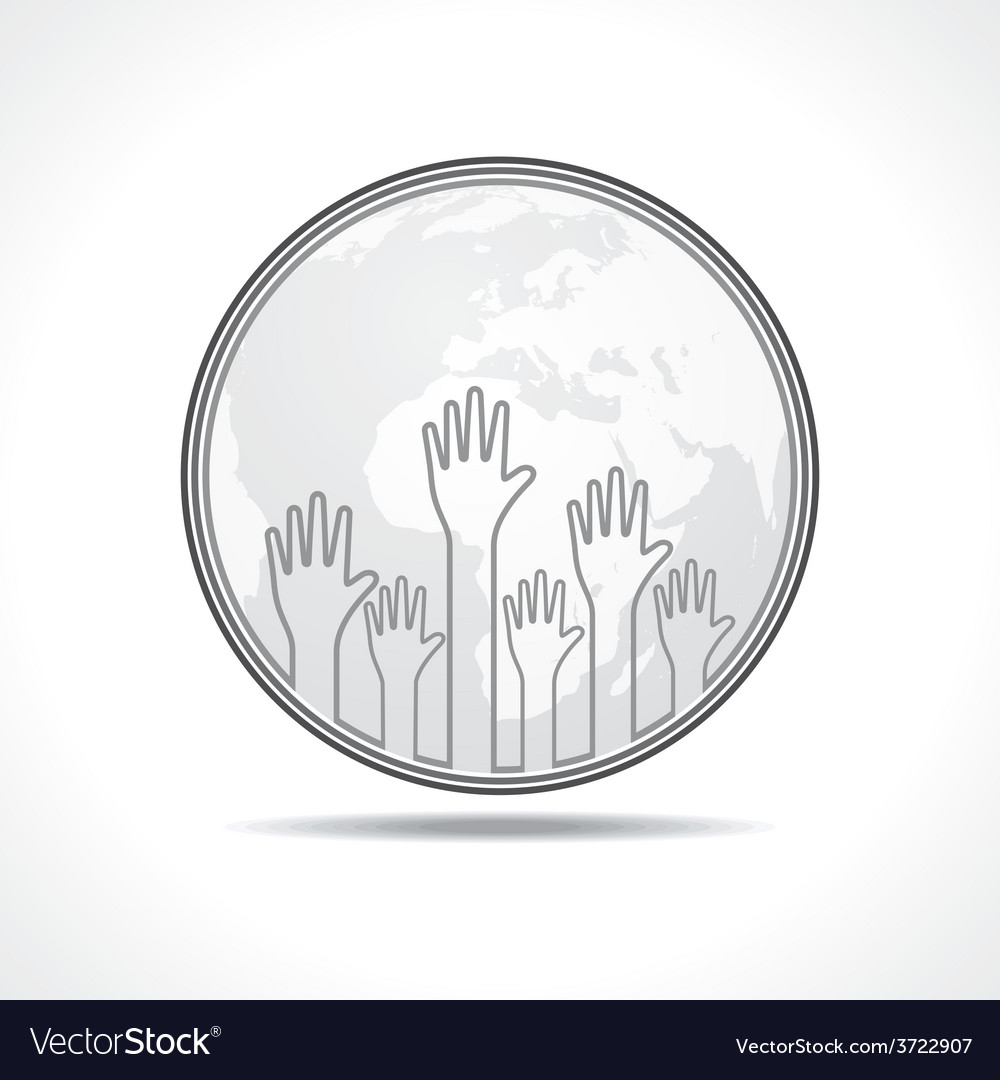 Hand background with earth vector | Price: 1 Credit (USD $1)