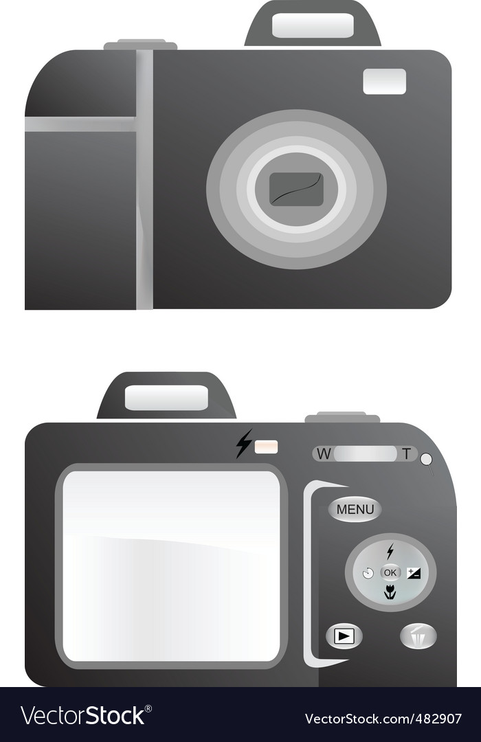 L photo camera vector illustration vector | Price: 1 Credit (USD $1)