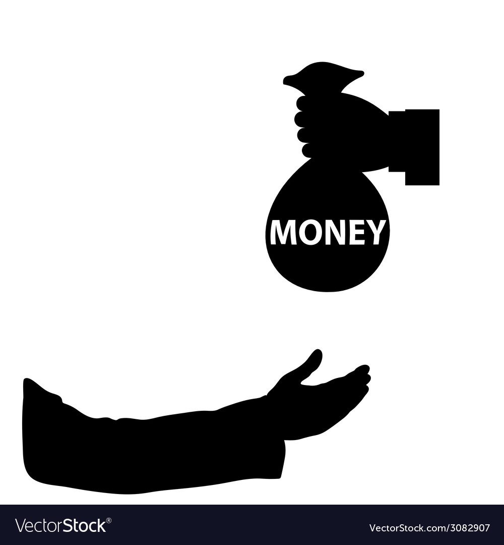 Money in hand vector | Price: 1 Credit (USD $1)