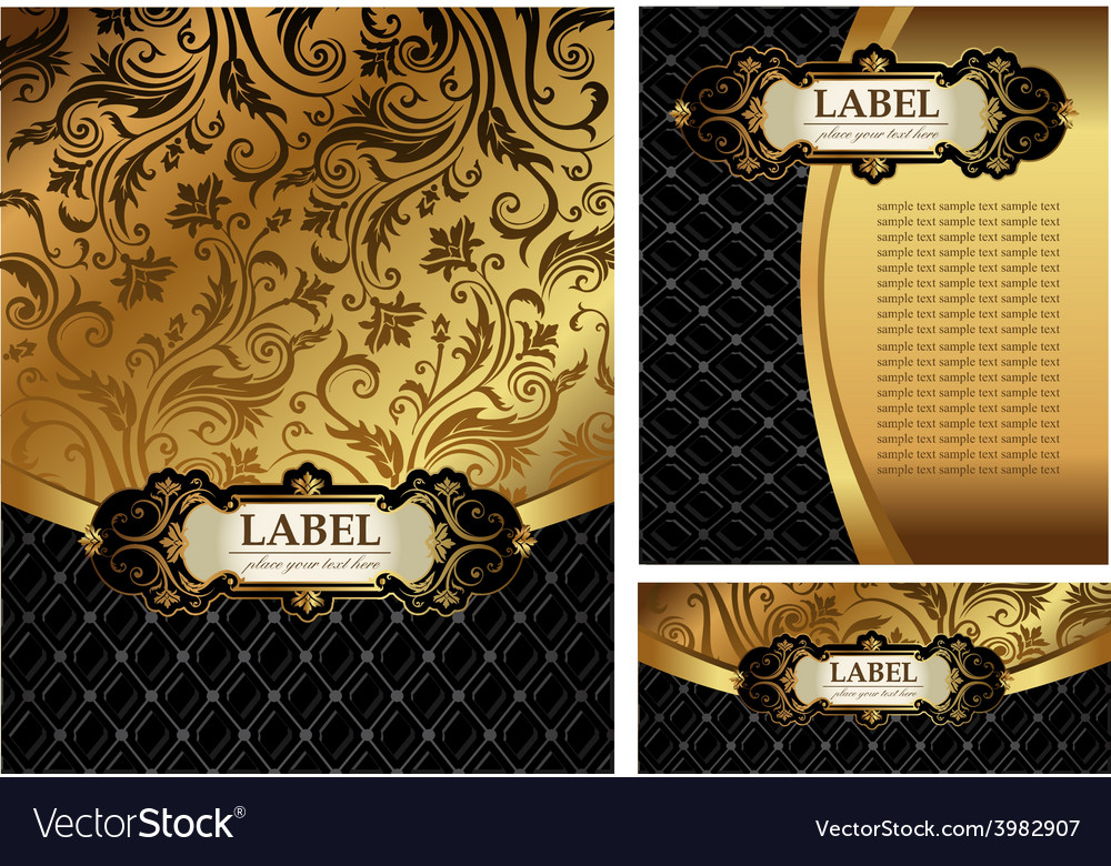 Ornate golden menu cover vector | Price: 3 Credit (USD $3)