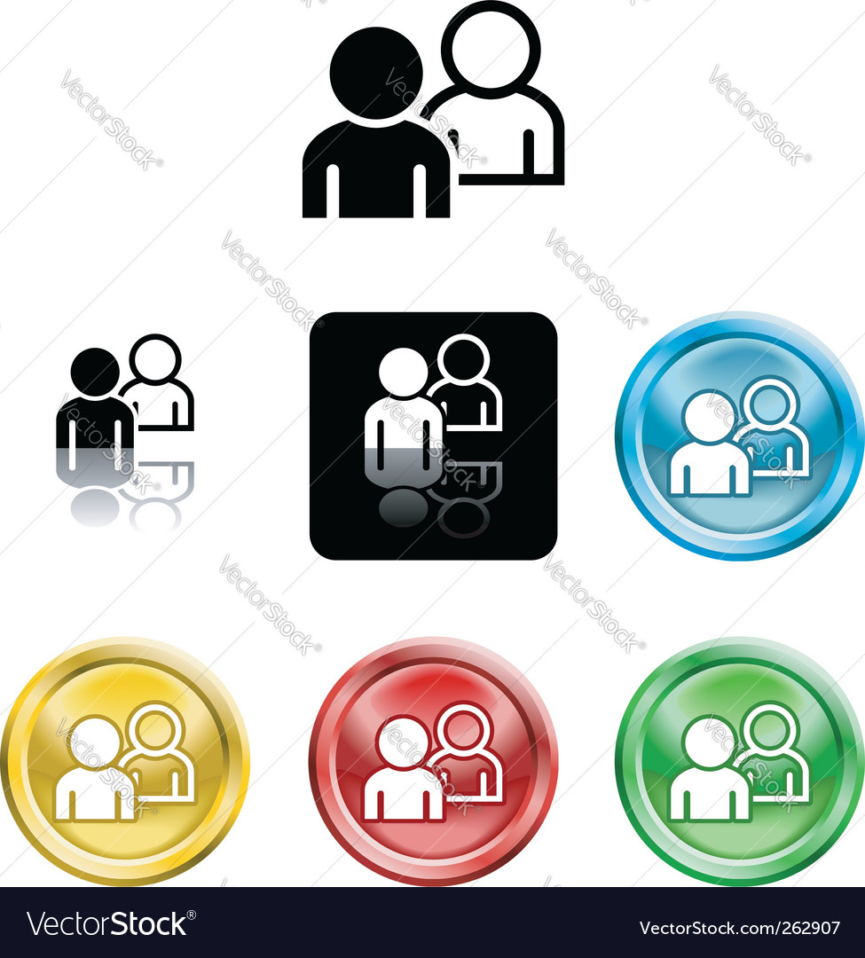 People networking icon vector | Price: 1 Credit (USD $1)