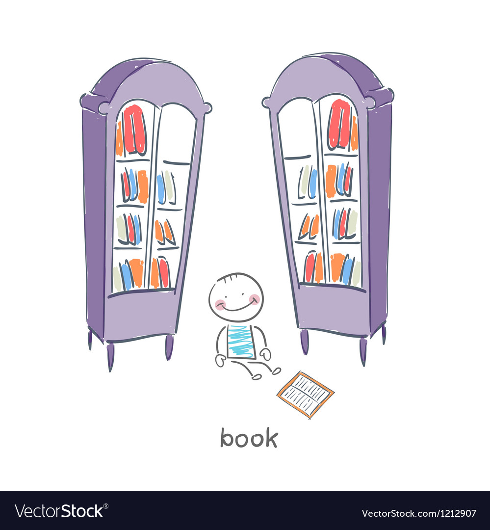 Reader of books vector | Price: 1 Credit (USD $1)