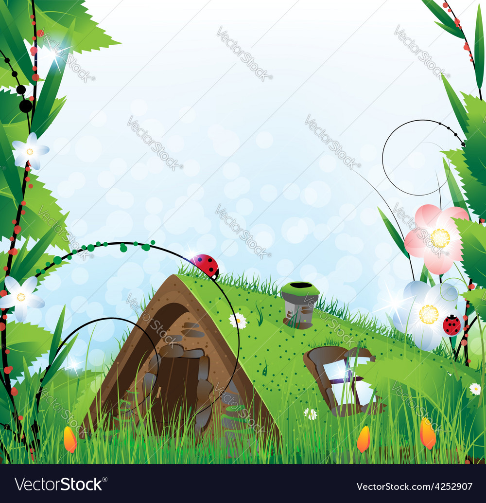 Small fairy house vector | Price: 3 Credit (USD $3)