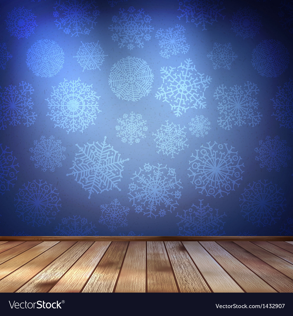 Snowflakes in blue room eps 10 vector | Price: 1 Credit (USD $1)